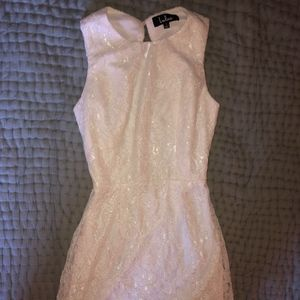 Lulus - PARTY PICK ME UP WHITE LACE BACKLESS